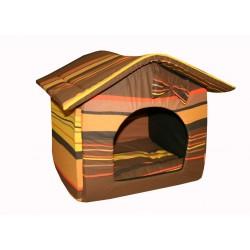 """Мягкий домик """"Будка"""" для животных, подушка, СЪЕМНАЯ КРЫША, шоколадный, поплин"""