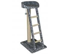 Когтеточка с лежанкой и лестницей, для кошек, 45*60*110 см