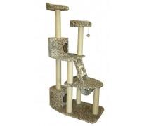 Комплекс «Ingrid» с ДВУМЯ ДОМИКАМИ, для кошек, 55*105*175 см