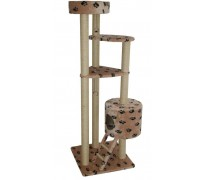 Комплекс «Lora», для АКТИВНЫХ крупных кошек, меховой, 70*70*200 см