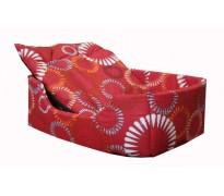 Лежак прямоугольный с подушкой, высокий бортик, бязь/поролон, разные расцветки