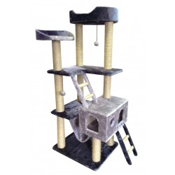 Комплекс «Bagira» с ДОМИКОМ и ЛЕЖАНКОЙ, для КРУПНЫХ кошек, 60*70*160 см