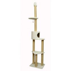 Комплекс «Largo» с упором в потолок, меховой, для кошек